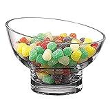 Badash - Kira Slant Mouth Blown Glass Bowl D6 in.
