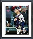 """Joe Mauer Minnesota Twins 2018 MLB Final Game Photo (Size: 12.5"""" x 15.5"""") Framed"""