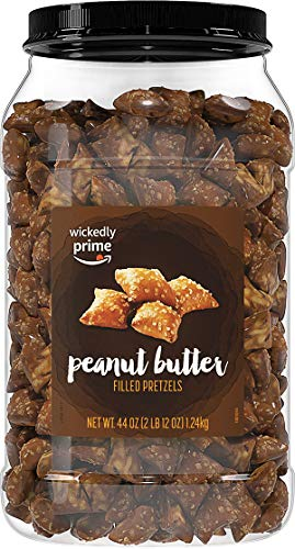 - Wickedly Prime Peanut Butter-Filled Pretzels, 44 Ounce