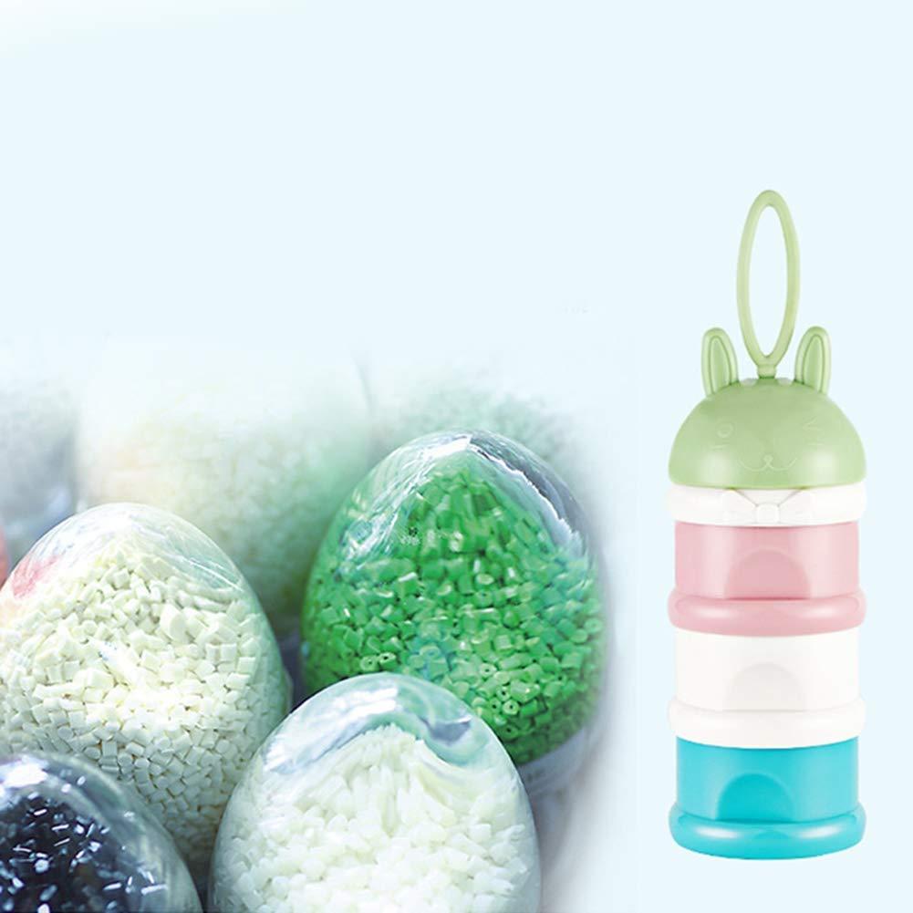 Queta 3-lagige tragbare Babymilchpulverbox Babynahrungsmilchpulverspender-Milchbox abnehmbare tragbare Gro/ße Kapazit/ät