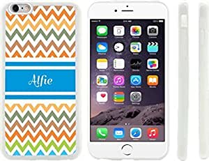 """Beautiful-Diy """"Alfie"""" Blue Chevron Name Design iPhone 6 Plus case cover for Apple 8ny4QlwWFXq iPhone 6 Plus sell on Zeng case cover"""