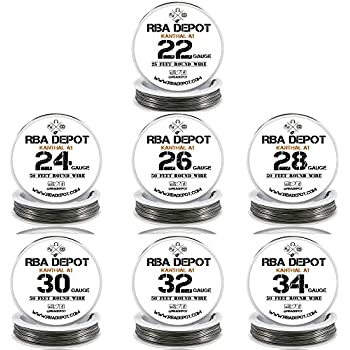 Temco kanthal a1 wire 36 gauge 250 ft resistance awg a 1 ga 7 pack 22 24 26 28 30 32 34 gauge awg 25ft 50ft ka1 kanthal resistance wire a1 greentooth Images