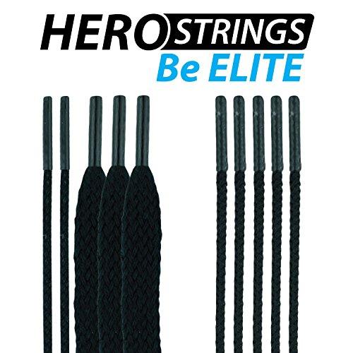 East Coast Dyes HeroStrings - Black (Best Soft Mesh Lacrosse)