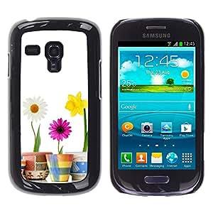 Ihec Tech FLEURS minimaliste / Coque Etui Coque étui de portefeuille protection Coque Case Cas / for Samsung Galaxy S3 MINI 8190