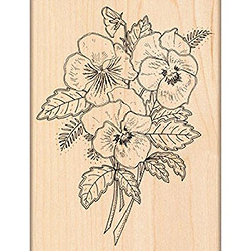 Pansy Bouquet Wood Mounted Rubber Stamp PENNY BLACK 4382K NEW