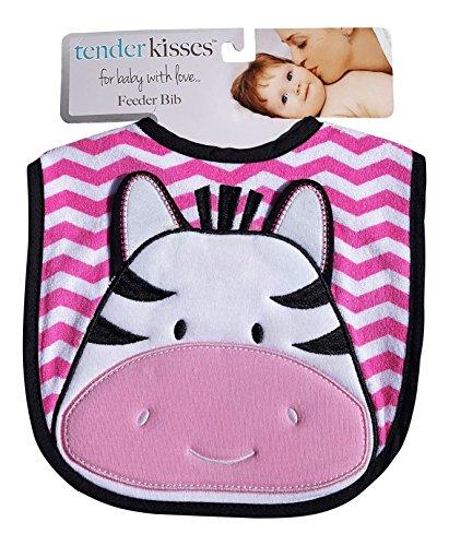 Tender Kisses Infant Embroidered Bib Zebra