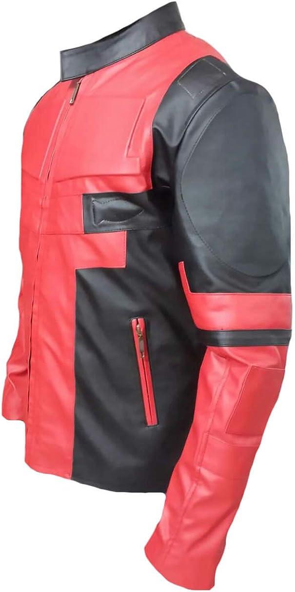Stormwise Mens Fashion Dead Pool Slimfit Leather Jacket