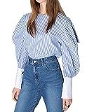 HaoDuoYi Womens Sweet Plant Print Polo Collar All Match Shirt