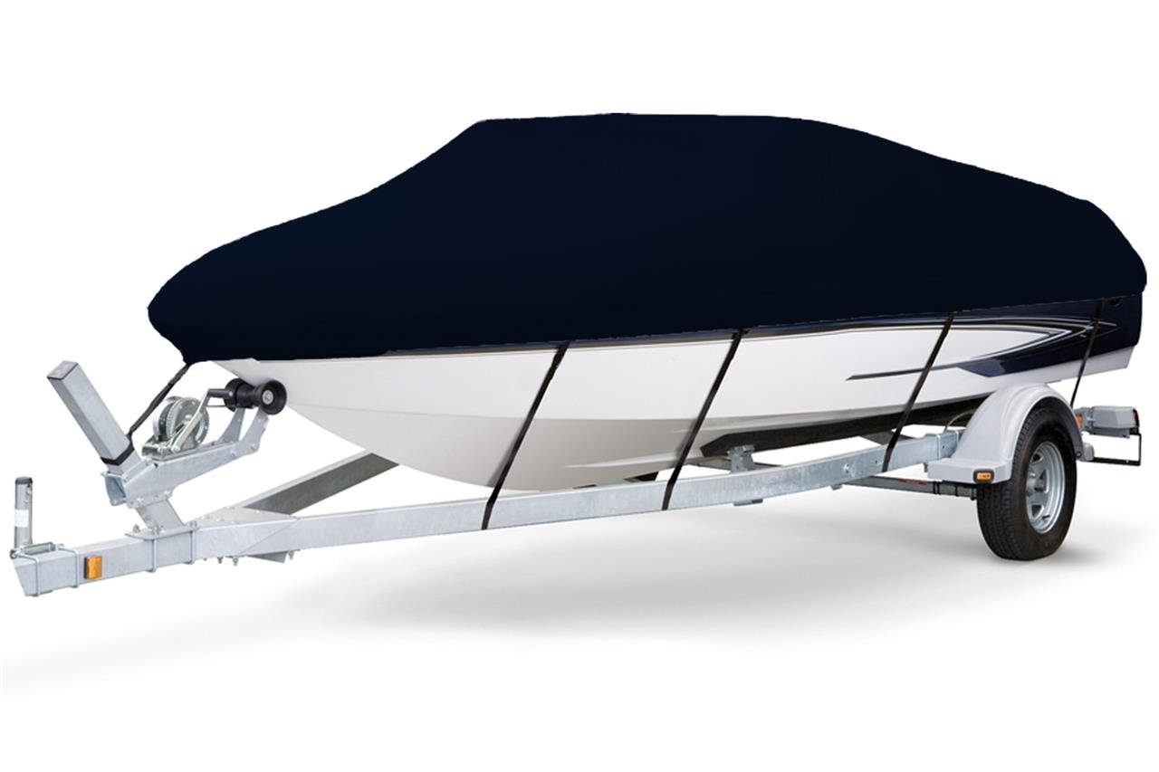 7 oz Solution Dyed Polyester Black, Styled to FIT Boat Cover for Key Largo 168 Bay 2015-2016 by SBU-CV