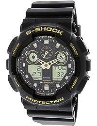 Men's G-Shock GA100GBX-1A9 Black Polyurethane Japanese...