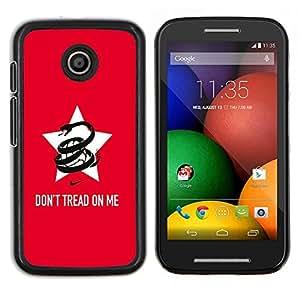 Caucho caso de Shell duro de la cubierta de accesorios de protección BY RAYDREAMMM - Motorola Moto E - Divertido no pise en mí la serpiente