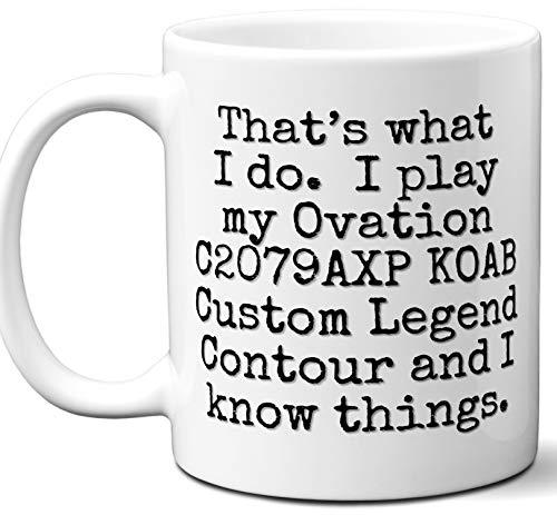 Guitar Gifts Mug. Ovation C2079AXP Koab Custom Legend Contour Guitar Players Lover Accessories Music Teacher Lover Him Her Funny Dad Men Women Card Pick Musician Acoustic Unique