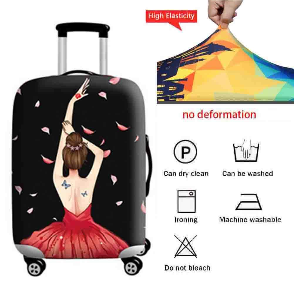 Suitcase Cover Aircraft Checked Baggage Anti-Theft Protective Cover Polyester Thick Wear-Resistant Travel Case Waterproof Dust Cover