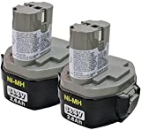 Makita 194157-8 14.4-Volt Ni-MH Pod Style Replacement Cordless Battery - 2.6 Ah (1434-2) - 2 Batteries per Package