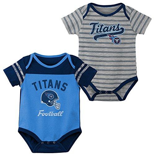 Outerstuff NFL NFL Tennessee Titans Newborn & Infant Dual-Action 2 Piece Bodysuit Set Light Blue, 24 Months ()