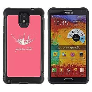 Suave TPU Caso Carcasa de Caucho Funda para Samsung Note 3 / Milk Splash Passionate Funny Pink / STRONG