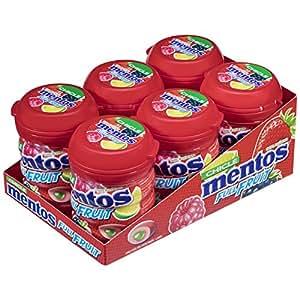 Mentos Chicle Sin Azúcar Full Fruit Bote con Sabor a Frutas Silvestres - 6 unidades de 60 gr/ud