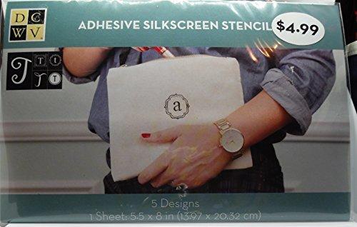 - DCWV Adhesive Silkscreen Stencil - 5 Designs - Letter T