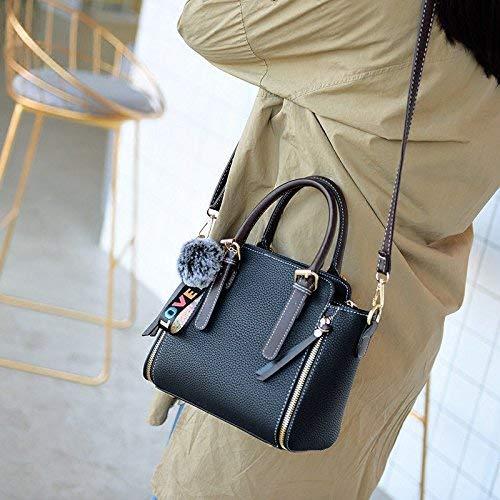 Damen Tasche mit einzelner Schulterhandtasche für Frauen Frauen Frauen (Farbe   schwarz, Größe   23x18x13cm) B07PQ65X3N Umhngetaschen Vielfalt 5a3865