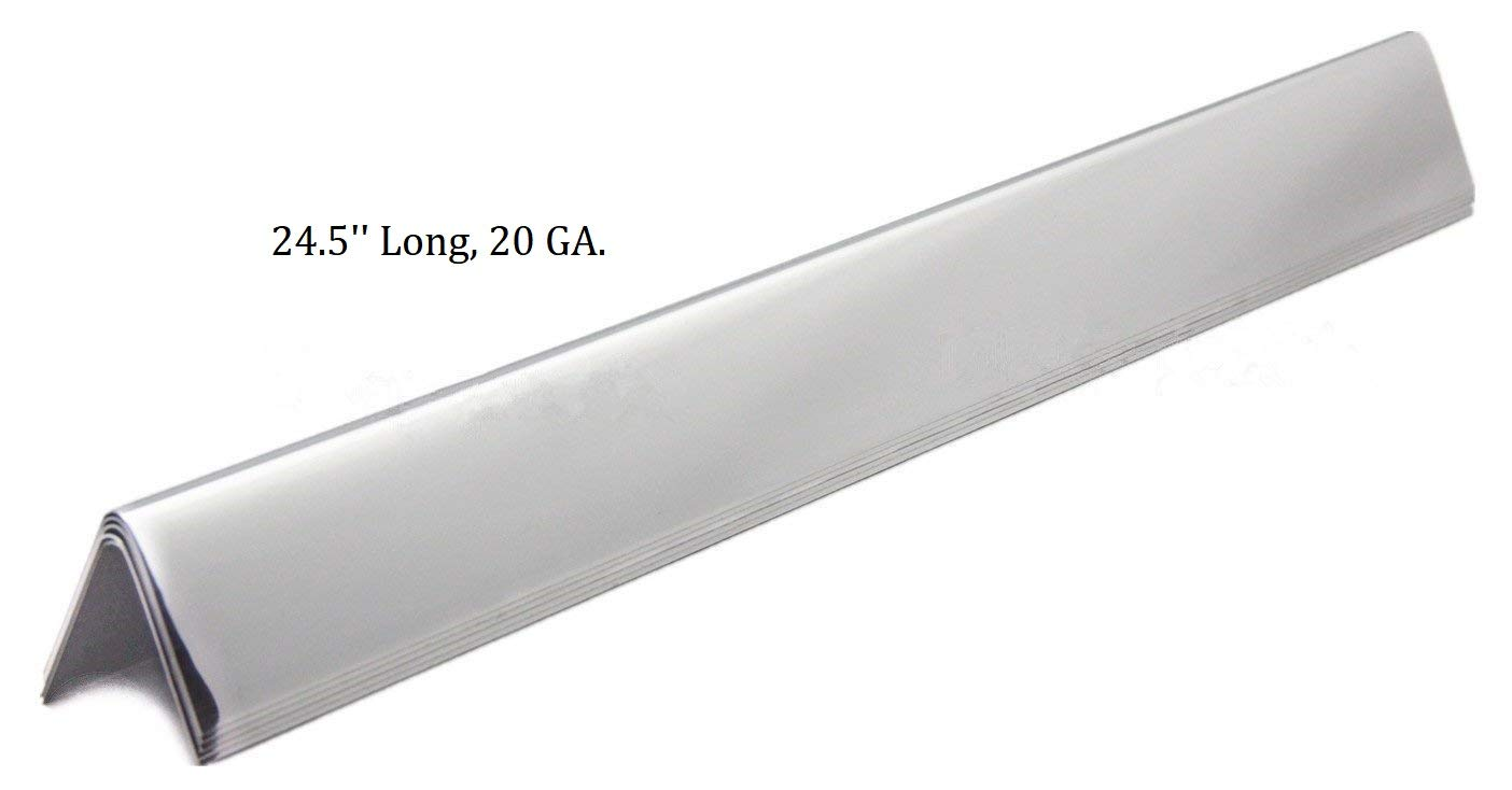 Hongso 24.5 inch Flavorizer Bars Replacement for Weber Genesis 300 Series E-310, E-320, S-310, S-320 (2007-2010), 5-Pack Stainless Steel Heat Deflectors, 7539 7540, 20 Gauge by Hongso (Image #2)