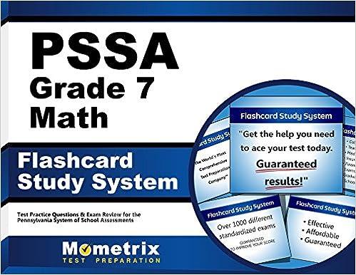 Pssa Grade 7 Mathematics Flashcard Study System Pssa Test Practice