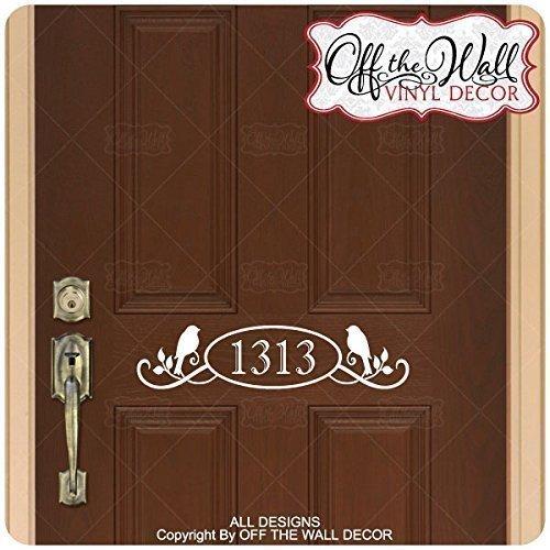 House Numbers Front Door Vinyl Decal Sticker #Birds