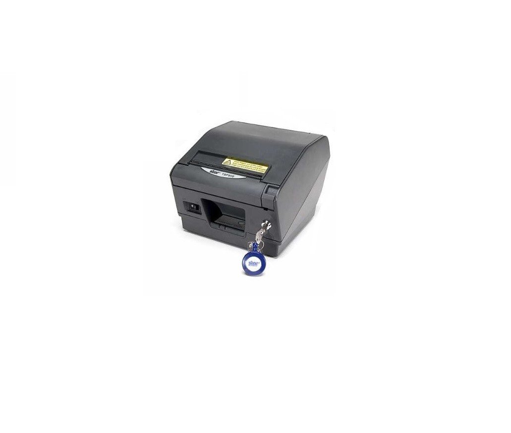 Star Micronics 37962280 Model TSP847CII-24 Gray RX-US Thermal Friction Printer, Cutter/Tear Bar, Parallel, Ext Power Supply Included, Paper Lock, Gray by Star Micronics (Image #1)