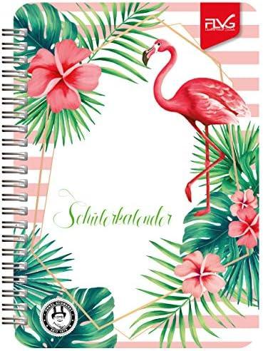 FLVG A5 Gymnasial-, Schul- und Studienplaner 2020/2021 Schulplaner – Schülerkalender Flamingo Sonderedition