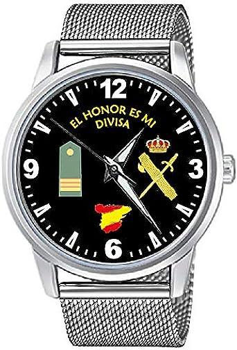CASIO® Reloj Guardia Civil Sumergible con Rango Sargento y Correa ...