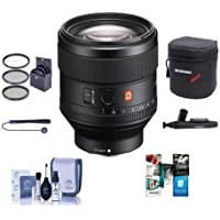 Sony FE 85mm F1.4 GM (G Master) E-Mount NEX Camera Lens - Bundle With 77mm Filter Kit, Lens Case, Cleaning Kit, Capleash II, Lenspen Lens Cleaner, Software Package