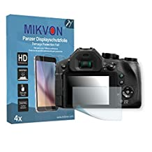 4x Mikvon Armor Screen Protector for Panasonic LUMIX DMC-FZ300 screen fracture protection film - Retail Package with accessories