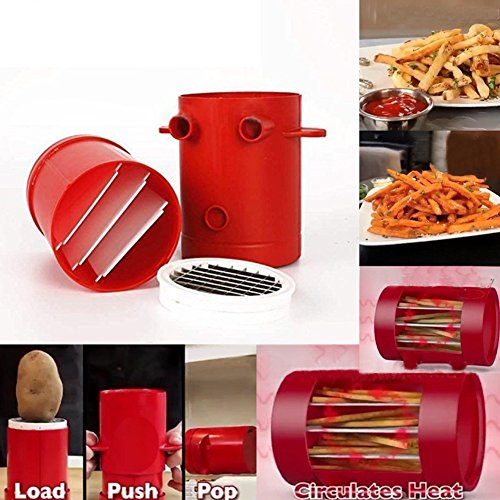 Potatoes Maker French Fries Maker Potato slicers French Fries Cutter Machine & Microwave Container 2-in-1,No Deep-Fry To Make Healthy Fries. by MEIBY