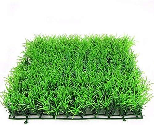 Simule el Paisaje del Tanque de Peces de césped de la Planta de césped de Agua Verde para la decoración del Acuario casero 1