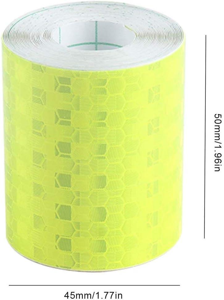 Color: Amarillo Tiras Adhesivas s/úper Reflectantes Fluorescentes Cinta de Advertencia de Seguridad del autob/ús Escolar Pegatinas de Visibilidad del autom/óvil