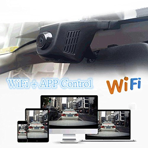 Hidden Dash Camera for Cars Sipring Car HD 1080P 170 Degree Wide Angle WIFI DVR Vehicle Camera Video Recorder Dash Cam Night Vision