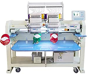 CAMFive CFHS-CT1502 10H 2 heads, 15 needle embroidery machine, free onsite installation & training and unlimited support