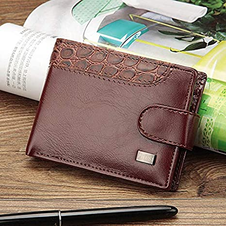 Best Quality Hah Baellerry Vintage Leather Hasp Small Wallet Coin Pocket Purse Card Holder Men Wallets