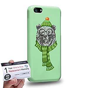 Case88 [Apple iPhone 5C] 3D Printed Snap-on Hard Case & Warranty Card - Art Design Ursus arctos Personate Animals