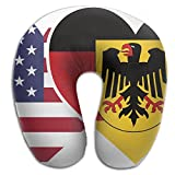 CY STORE Germany USA Flag Twin Heart U Type Pillow Memory Foam Neck Pillow Relex Pollow Travel Pillow Relief Neck Pain