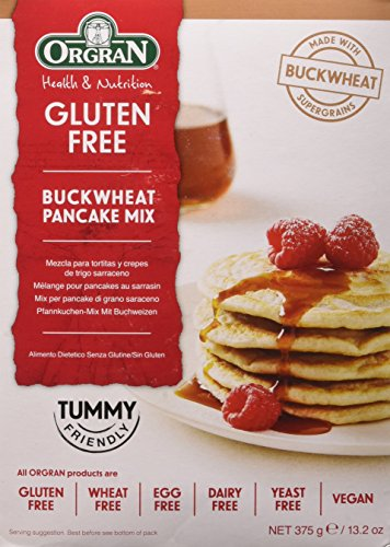 One 13.2 oz Orgran Buckwheat Pancake Mix Gluten Free (The Best Buckwheat Pancakes)