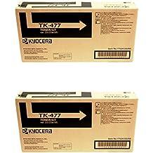 Kyocera TK-477 (TK477) Black Toner Cartridge 2-Pack for FS-6525MFP, FS-6530MFP