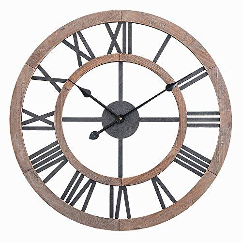 Utopia Alley Oversized Roman Round Wall Clock -24