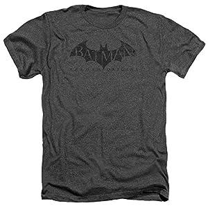 Trevco Batman Arkham Origins Crackle Logo Heather Adult T-Shirt at Gotham City Store