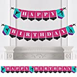 Big Dot of Happiness Tumble, Flip & Twirl - Gymnastics - Birthday Party Bunting Banner - Birthday Party Decorations - Happy Birthday