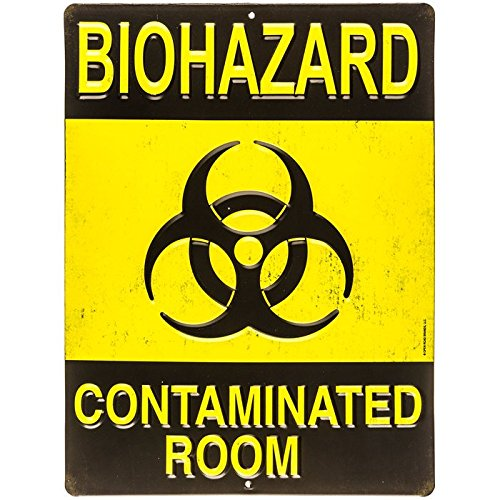 Biohazard Contaminated Room Tin Sign MAN CAVE Great Father's Day (Fathers Day Tin)