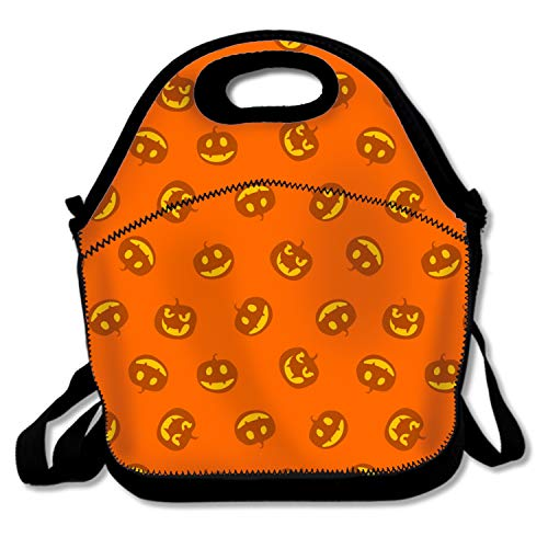 Pumpkins Happy Haloween Lunch Tote Insulated Reusable Picnic Lunch Bags Boxes for Men Women Adults Kids Toddler Nurses]()
