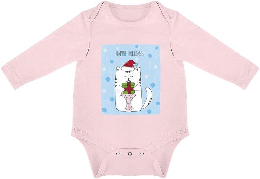 No Branded Ropa de Bebe Recien Nacido Gato De Navidad Y Regalos Peleles para Bebes de algodón Ideales para Dormir y Jugar 6months