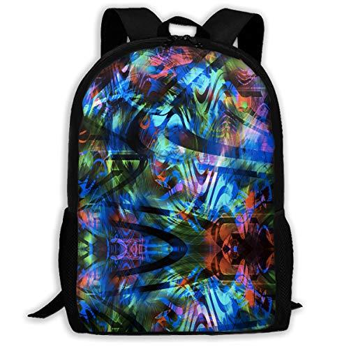 (UYILP Neon Lights Adult Premium Travel Backpack, Water-Resistant Big Business College School Bookbag Daypack,Rucksack, Laptop Bag for Men&Women)