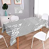 L-QN Polyester Square Tablecloth Motherboard Electronic Hardware Technical Display Futuristic Plan Design Grey White Dining Room Kitchen Rectangular Table Cover 70''x70''