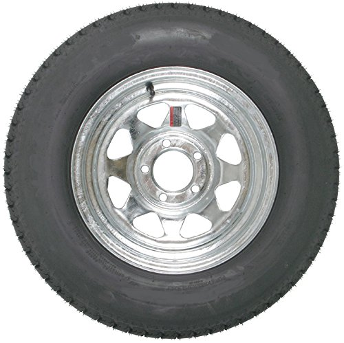 eCustomRim Trailer Tire On Rim 60211 ST185/80R13C 1480 Lb. 13X4.5 5-4.5 Spoke Galvanized